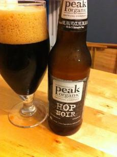 Hop Noir from Peak Organic Brewery.
